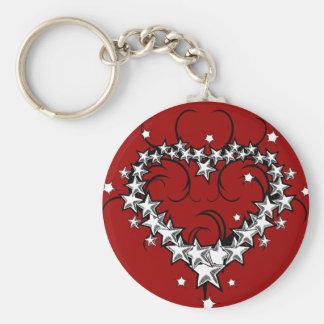 tattoos_008(1) BLACK WHITE RED LOVE HEART TATTOO Key Chains