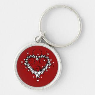 tattoos_008(1) BLACK WHITE RED LOVE HEART TATTOO Key Chain