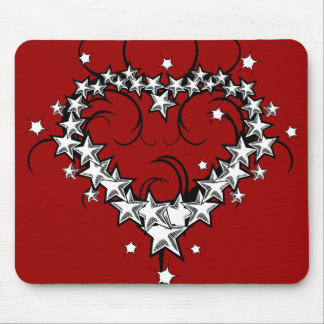 tattoos_008(1) BLACK WHITE RED LOVE HEART TATTOO Mouse Pad