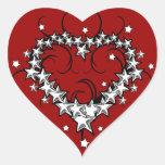 tattoos_008(1) BLACK WHITE RED LOVE HEART TATTOO Stickers