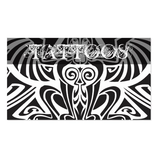 Tattoos business card zazzle for Business card size tattoos