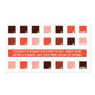 TATTOOS customer appreciation (mod squares) Business Card