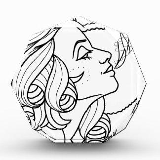 Tattoos girl acrylic award
