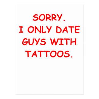 tattoos postcard