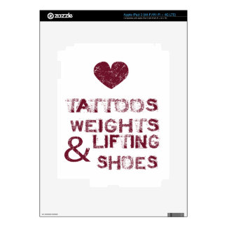 tattoos weights shoes female iPad 3 skin