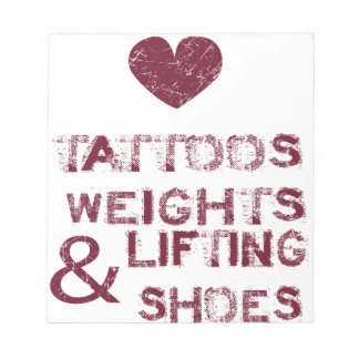 tattoos weights shoes female notepad