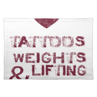 tattoos weights shoes female placemat