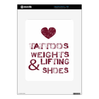 tattoos weights shoes female skin for iPad