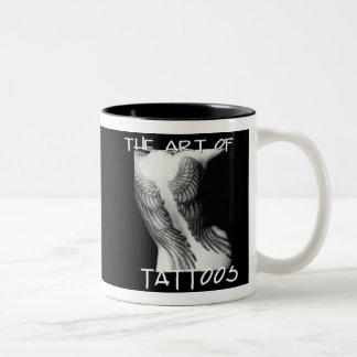 Tattos una obra de arte taza de café