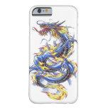 Tatttoo azul japonés oriental fresco del dragón