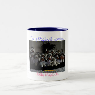 Tatty RagDoll Invasion Two-Tone Coffee Mug