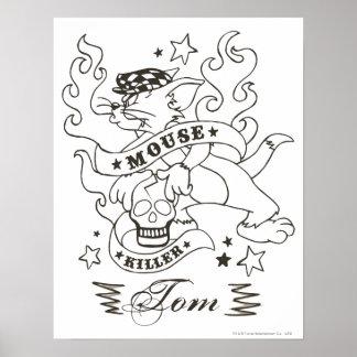Tatuaje 1 del asesino del ratón de Tom Poster