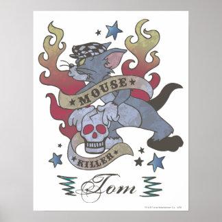Tatuaje 2 del asesino del ratón de Tom Poster