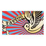 tatuaje 2 del gorrión plantilla de tarjeta de negocio