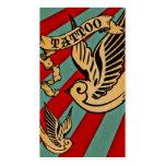 tatuaje 3 del gorrión tarjetas de visita