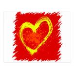 Tatuaje abstracto del corazón tarjetas postales