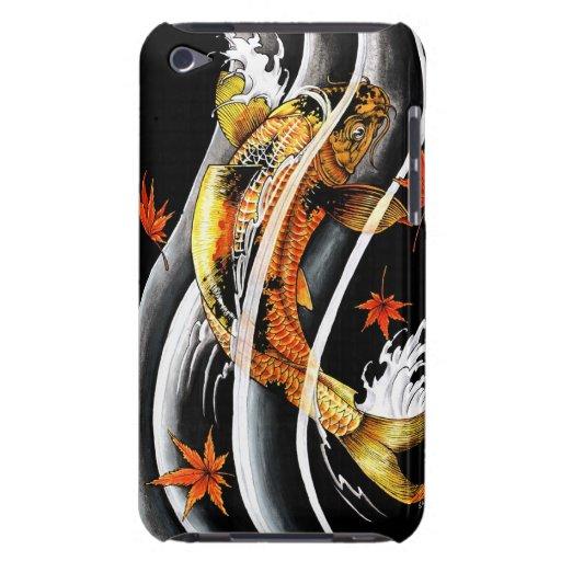 Tatuaje afortunado de los pescados de Koi del oro  iPod Touch Case-Mate Fundas