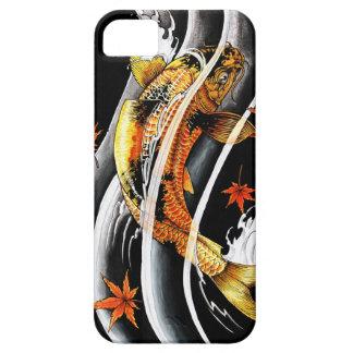 Tatuaje afortunado de los pescados de Koi del oro Funda Para iPhone 5 Barely There