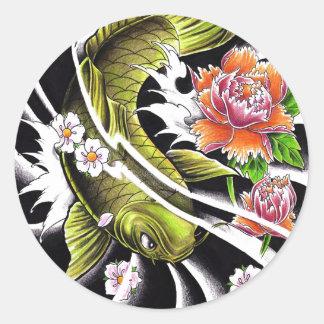 Tatuaje afortunado de los pescados del koi de la t pegatinas