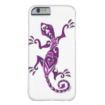 Tatuaje/alheña del lagarto en púrpura funda de iPhone 6 barely there