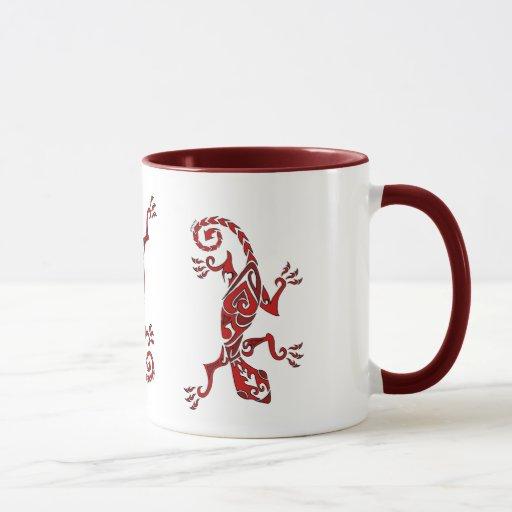 Tatuaje/alheña del lagarto en rojo