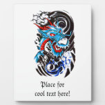 Tatuaje azul fresco del dragón placas para mostrar