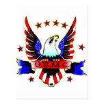 Tatuaje blanco de la escuela vieja del USMC y azul Tarjetas Postales