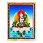Tatuaje blanco de Tara del thangka tibetano orient Tarjeta Postal