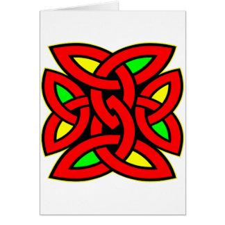 Tatuaje céltico del nudo tarjeta de felicitación