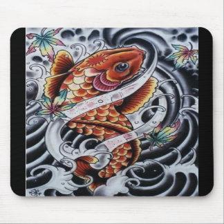 Tatuaje coloreado Mousepad de Koi