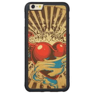 Tatuaje con alas del corazón funda de arce bumper carved® para iPhone 6 plus