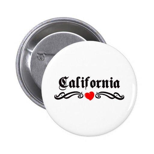 Tatuaje de California Pin Redondo 5 Cm