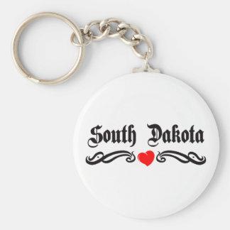 Tatuaje de Dakota del Sur Llavero