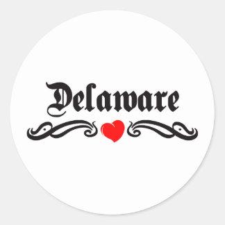 Tatuaje de Delaware Pegatinas Redondas