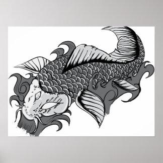 Tatuaje de Koi - poster