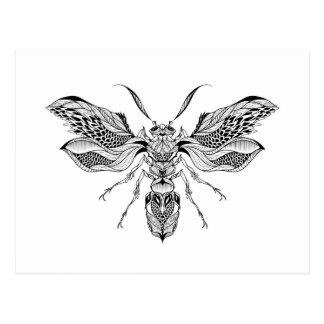 Tatuaje de la Abeja-Avispa Postal
