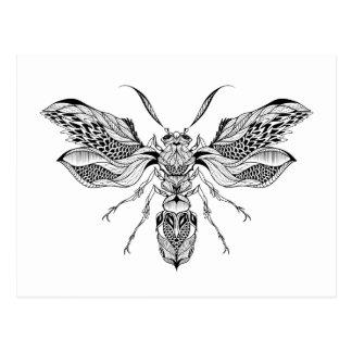 Tatuaje de la Abeja-Avispa Postales