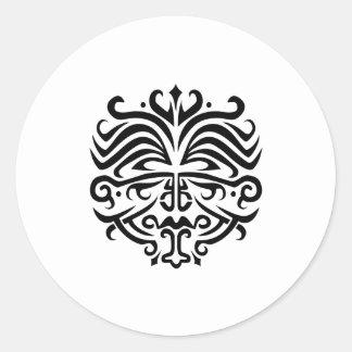 Tatuaje de la cara pegatina redonda