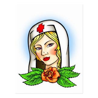 Tatuaje de la enfermera tarjetas postales