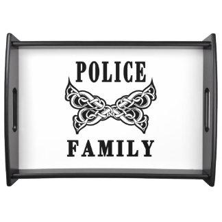 Tatuaje de la familia de la policía bandejas