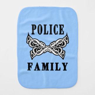 Tatuaje de la familia de la policía paños de bebé