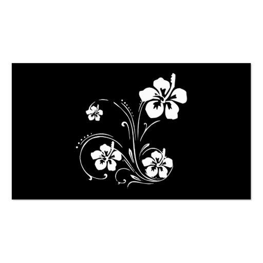 Tatuaje de la flor tarjetas de visita