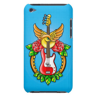 Tatuaje de la guitarra baja iPod Case-Mate protectores