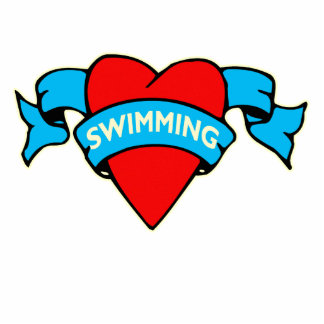 Tatuaje de la natación del corazón I Esculturas Fotográficas