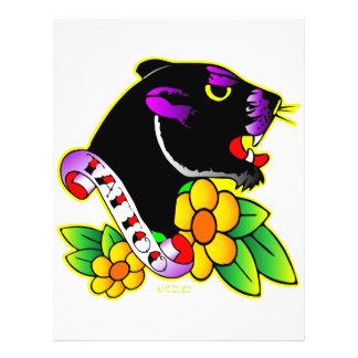 Tatuaje de la pantera negra tarjeta publicitaria