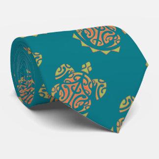 Tatuaje de la tortuga del mango y de la cal corbata personalizada