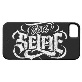 """Tatuaje de las letras de """"Selfie épico"""" - caso del iPhone 5 Cárcasa"""