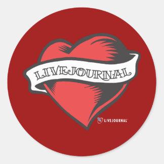 Tatuaje de LiveJournal Pegatina Redonda