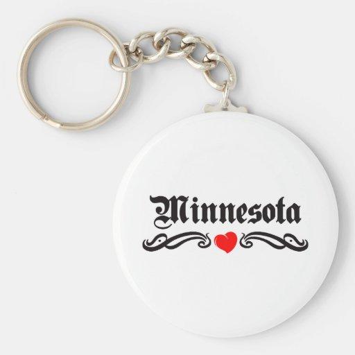 Tatuaje de Minnesota Llaveros