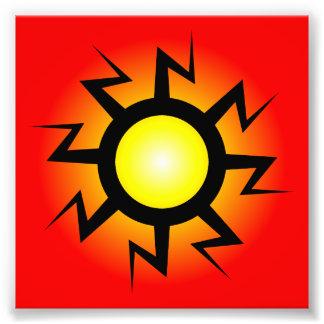 Tatuaje de Sun del relámpago Impresiones Fotograficas